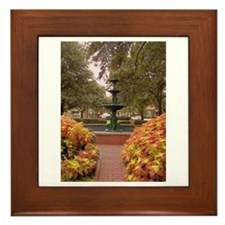Savannah GA Fountain Framed Tile
