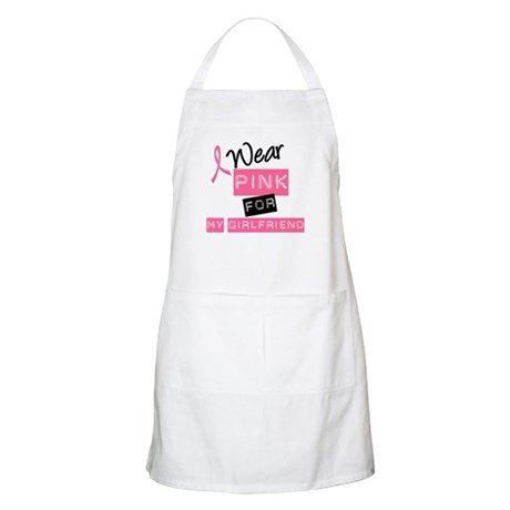 I Wear Pink For Girlfriend BBQ Apron