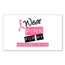 I Wear PInk Daughter-in-Law Rectangle Decal
