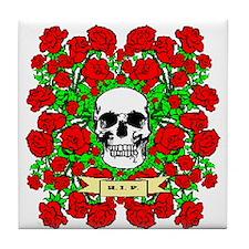 Gothic Roses Tile Coaster
