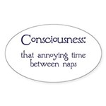 Consciousness Naps Oval Sticker (10 pk)