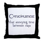 Consciousness Naps Throw Pillow