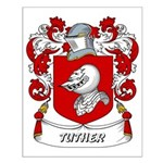 Tuther Coat of Arms Small Poster