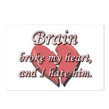 Brain broke my heart and I hate him Postcards (Pac