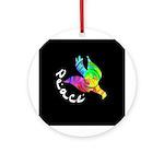 Rainbow Dove Peace Ornament (Round)
