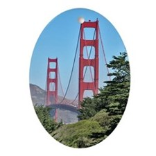 Golden Gate Bridge - Holiday Ornament Oval