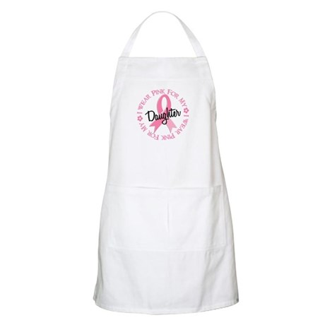 I Wear Pink for My Daughter 38 BBQ Apron