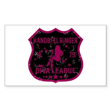 Handbell Ringer Diva League Rectangle Sticker