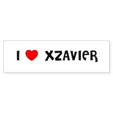 I LOVE XZAVIER Bumper Bumper Sticker