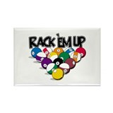 Rack Em Up Pool Rectangle Magnet (10 pack)