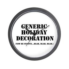 Generic Holiday Gear Wall Clock