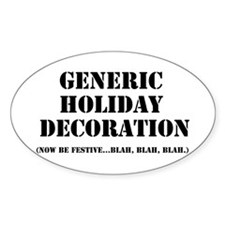 Generic Holiday Gear Oval Decal