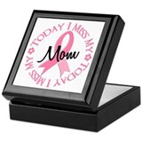 I Miss My Mom 2 BREAST CANCER Keepsake Box