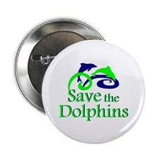 "Save the Dolphins 2.25"" Button (100 pack)"