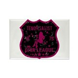 Tenor Saxist Diva League Rectangle Magnet