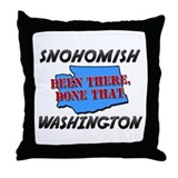 snohomish washington - been there, done that Throw
