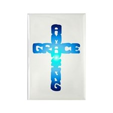 Amazing Grace Cross Rectangle Magnet (10 pack)
