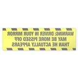 Warning Bumper Sticker, His version