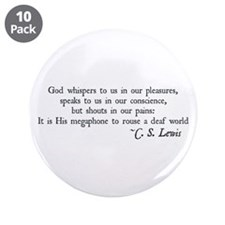 "God Shouts in our Pain 3.5"" Button (10 pack)"