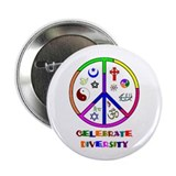 Celebrate Diversity 2.25&quot; Button (10 pack)