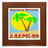 Spring Break Acapulco Framed Tile