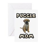 Puggle Mom Greeting Cards (Pk of 20)