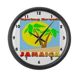 Spring Break Jamaica Large Wall Clock