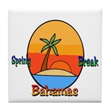 Spring Break Bahamas Tile Coaster