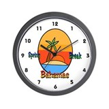 Spring Break Bahamas Wall Clock