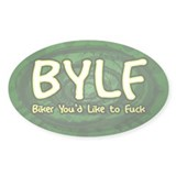 BYLF Oval Sticker Green