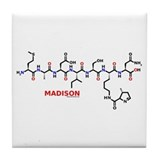 Madison name molecule Tile Coaster