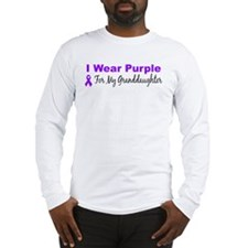 I Wear Purple For My Granddaughter Long Sleeve T-S