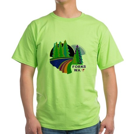 Forks Twilight Green T-Shirt