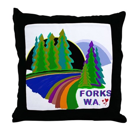 Forks Twilight Throw Pillow