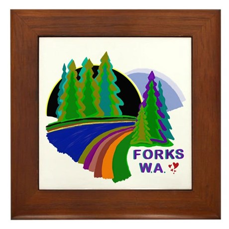 Forks Twilight Framed Tile