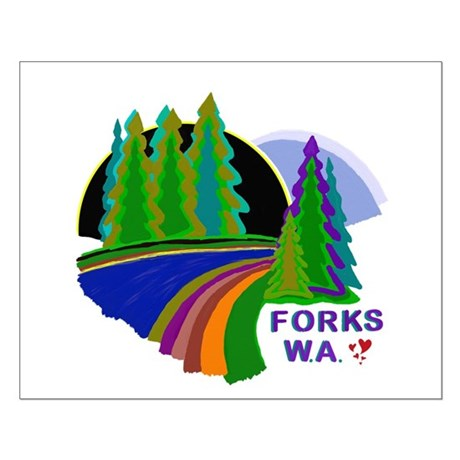 Forks Twilight Small Poster