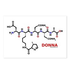 Donna name molecule Postcards (Package of 8)