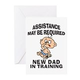 New Dad In Training Greeting Cards (Pk of 10)