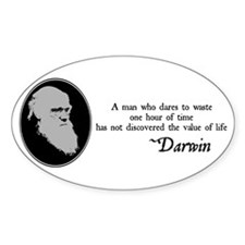The Value of Life Oval Decal