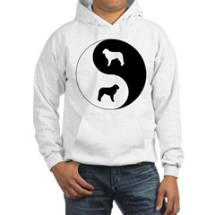 Yin Yang Kuvasz Hooded Sweatshirt