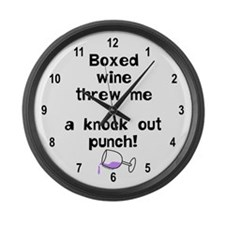 Boxed Wine Large Wall Clock