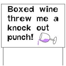 Boxed Wine Yard Sign