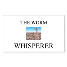 The Worm Whisperer Rectangle Decal