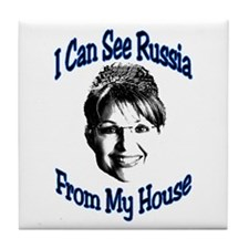 I Can See Russia Tile Coaster