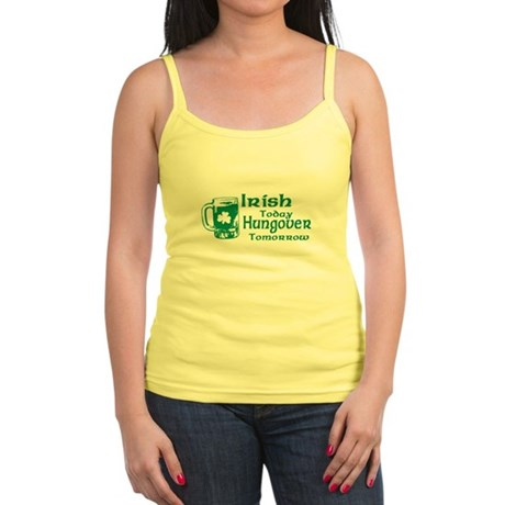 Irish Today Hungover Tomorrow Jr Spaghetti Tank