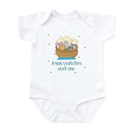 Jesus watches over me Baby Infant Bodysuit