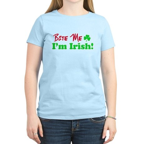 Bite Me I'm Irish Women's Light T-Shirt