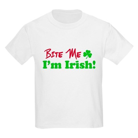 Bite Me I'm Irish Kids Light T-Shirt