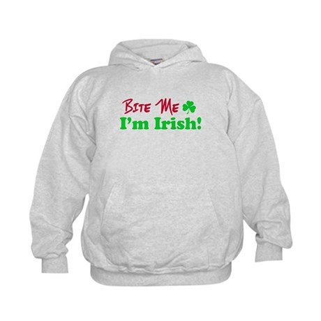 Bite Me I'm Irish Kids Hoodie