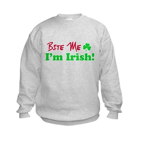 Bite Me I'm Irish Kids Sweatshirt